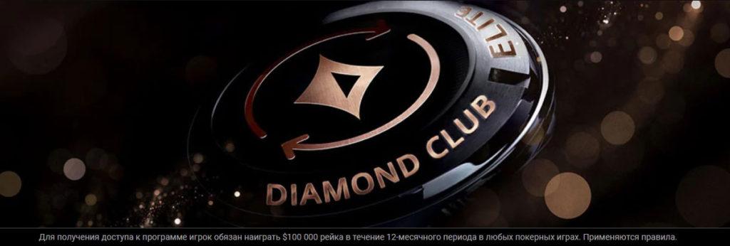 ВИП-программа Diamond Club ELITE рума ПатиПокер.